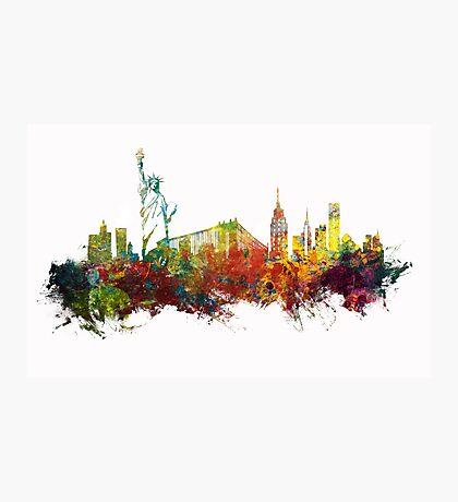 Colored New York City skyline Photographic Print