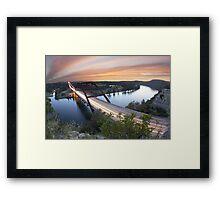 Pennybacker Bridge Sunset near Austin, Texas 2 Framed Print