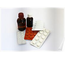 Packings with pills and drugs Poster