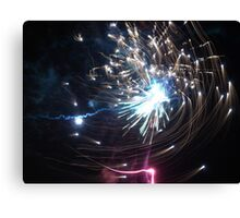 Effervescence - Fire Spiral Canvas Print