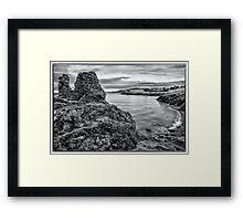 Black Castle Framed Print
