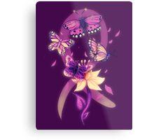 Beautiful purple butterflies  Metal Print