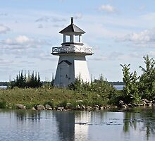 Lighthouse at Upper Canada Village Ontario Canada by Rose Landry