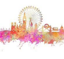 London skyline underground by JBJart
