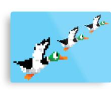 8-Bit Nintendo Duck Hunt 'Trio' Metal Print