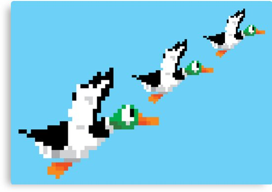 8-Bit Nintendo Duck Hunt 'Trio' by electricFIELD