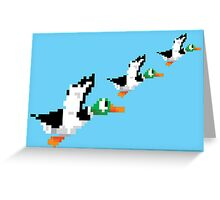 8-Bit Nintendo Duck Hunt 'Trio' Greeting Card