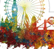 London Skyline England Sticker