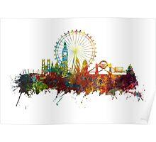 London Skyline England Poster