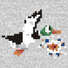 8-Bit Nintendo Duck Hunt 'Miss' by electricFIELD