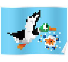 8-Bit Nintendo Duck Hunt 'Miss' Poster