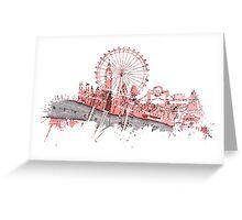 London skyline maps Greeting Card