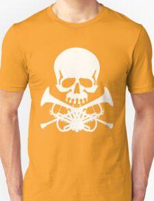 Skull with Trumpet Crossbones Unisex T-Shirt