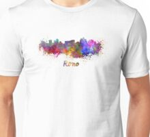 Reno skyline in watercolor Unisex T-Shirt