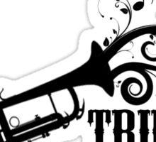 Trumpet with Swirls Sticker
