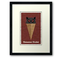 Catwoman Cordial Framed Print