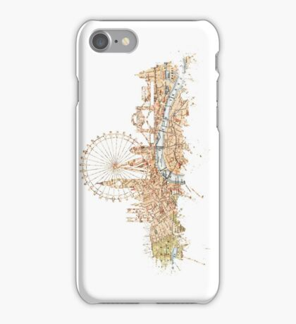 London skyline Maps Big Ben iPhone Case/Skin