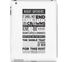 Night's Watch Oath iPad Case/Skin
