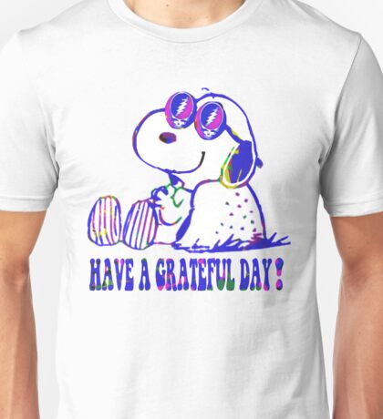 snoopy grateful day Unisex T-Shirt