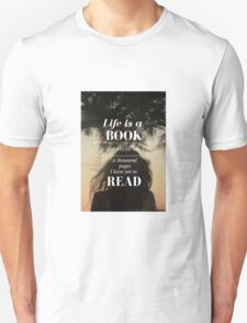 Life is a Book- Cassandra Clare- Sunset Girl T-Shirt
