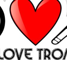 Peace, Love, and Trombone Sticker