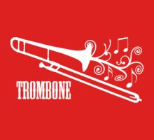 Trombone with swirls by shakeoutfitters