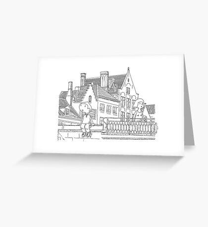 week-end in Brugges Greeting Card