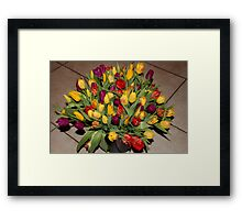 An Ocean Full Of Tulips II Framed Print