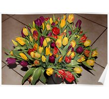 An Ocean Full Of Tulips II Poster