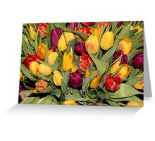 An Ocean Full Of Tulips  Greeting Card