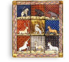 Medieval Animal Bestiary Canvas Print