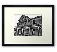 Haunting Farmhouse Framed Print