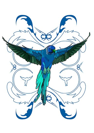 Blue Parrot 2 by Adamzworld
