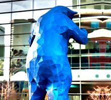Blue Bear iPhone by Michael Andersen