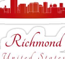 Richmond skyline in red Sticker