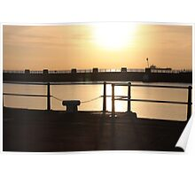 From Pleasure Pier to Stone Pier at Dawn Poster