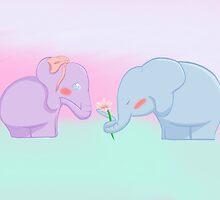 Elephant Love by Jujudcruz