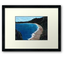 Wooded Shoreline Framed Print