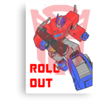 Optimus Prime - Roll Out Canvas Print