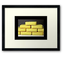 Citrus Aloe Hotel Bath Soap Bar  Framed Print