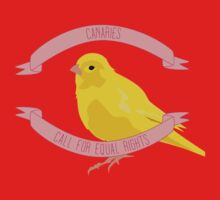 Canaries Call for Equal Rights One Piece - Long Sleeve