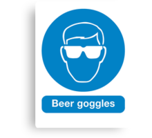 BEER GOGGLES Canvas Print