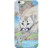 Baby Cougar with Alligator iPhone Case/Skin