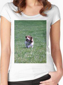 Running Basset Women's Fitted Scoop T-Shirt
