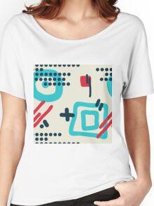 Modern hand draw colorful abstract seamless pattern Women's Relaxed Fit T-Shirt