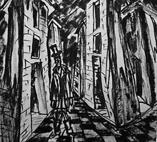 The City of Towers. Brush Pen Sketch, 2013 by Igor Pozdnyakov