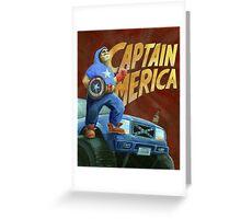 Captain Merica Greeting Card