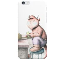 Devil with Droller  iPhone Case/Skin