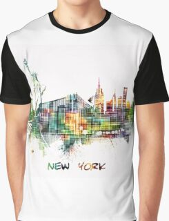 New York City skyline colored cube Graphic T-Shirt