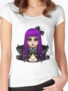 Gothic Doll Women's Fitted Scoop T-Shirt